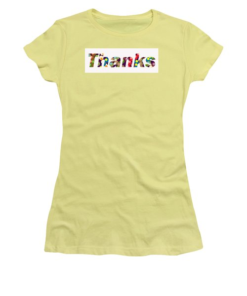 Thanks Women's T-Shirt (Athletic Fit)