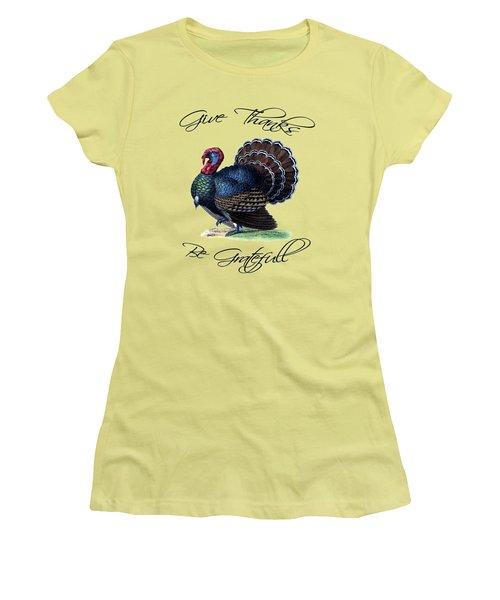 Thanksgiving Turkey Dictionary Art Women's T-Shirt (Junior Cut) by Jacob Kuch