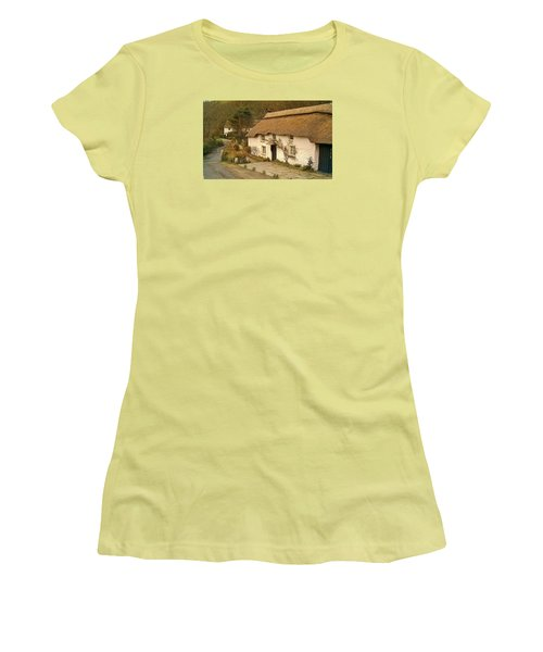 Thatched Cottage By Ford  Women's T-Shirt (Junior Cut) by Richard Brookes