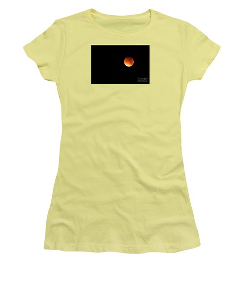 The 2015 Blood Moon  Women's T-Shirt (Junior Cut) by Gary Bridger