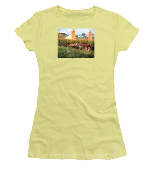 The Abundant Harvest Women's T-Shirt (Junior Cut) by Colleen Taylor