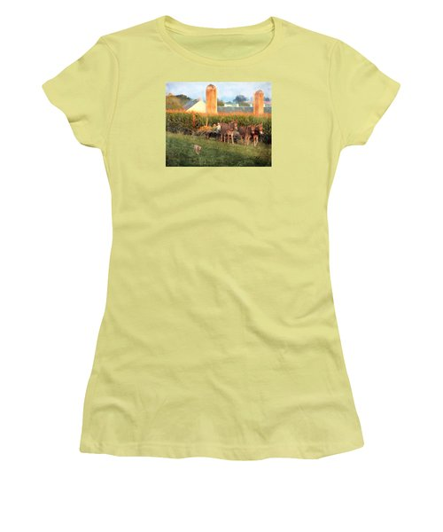 The Abundant Harvest Women's T-Shirt (Athletic Fit)
