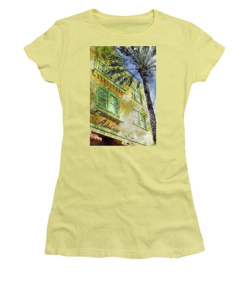 The Adrian Hotel South Beach Women's T-Shirt (Junior Cut) by Jon Neidert