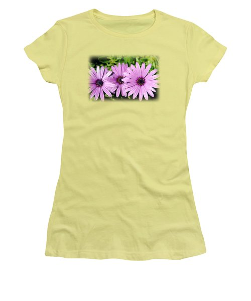 The African Daisy T-shirt 3 Women's T-Shirt (Junior Cut) by Isam Awad