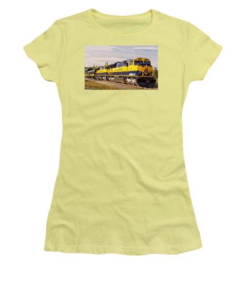 The Alaska Railroad Women's T-Shirt (Junior Cut) by Michael Rogers