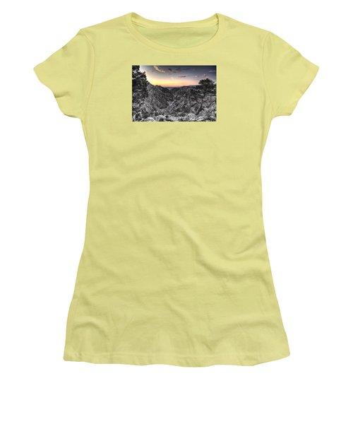 Women's T-Shirt (Junior Cut) featuring the digital art The Arkansas Through Royal Gorge by William Fields