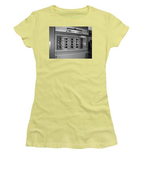 The Automat Women's T-Shirt (Junior Cut) by John Schneider