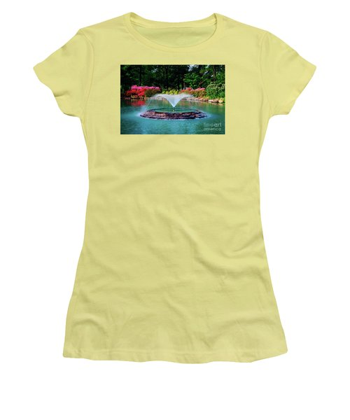 The Azalea Pond At Honor Heights Park Women's T-Shirt (Athletic Fit)