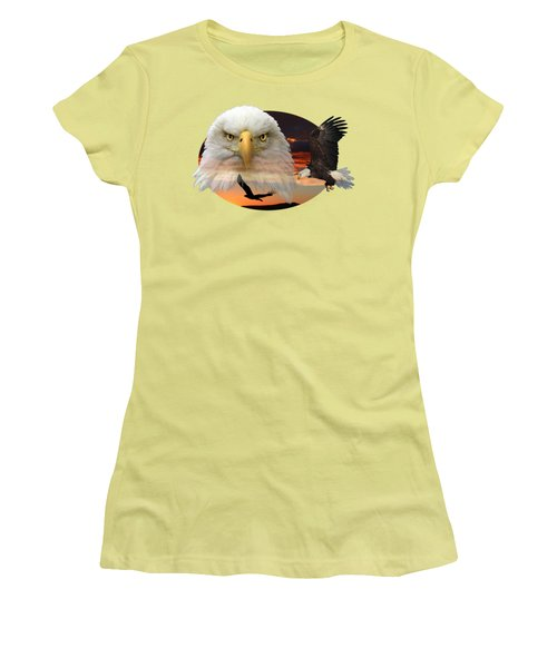 Women's T-Shirt (Junior Cut) featuring the photograph The Bald Eagle 2 by Shane Bechler