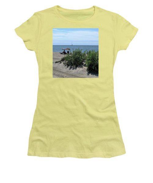 Women's T-Shirt (Junior Cut) featuring the photograph The Beach by John Scates