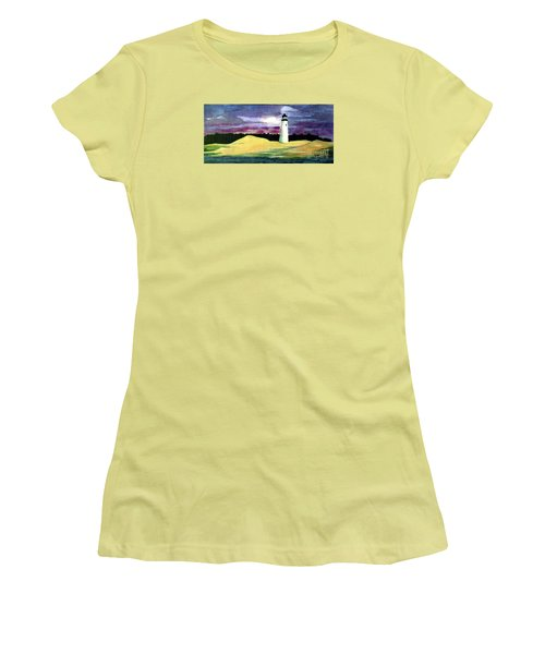 Women's T-Shirt (Junior Cut) featuring the painting The Beacon by Patricia Griffin Brett