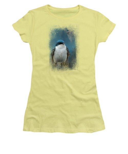 The Beautiful Tree Swallow Women's T-Shirt (Junior Cut) by Jai Johnson