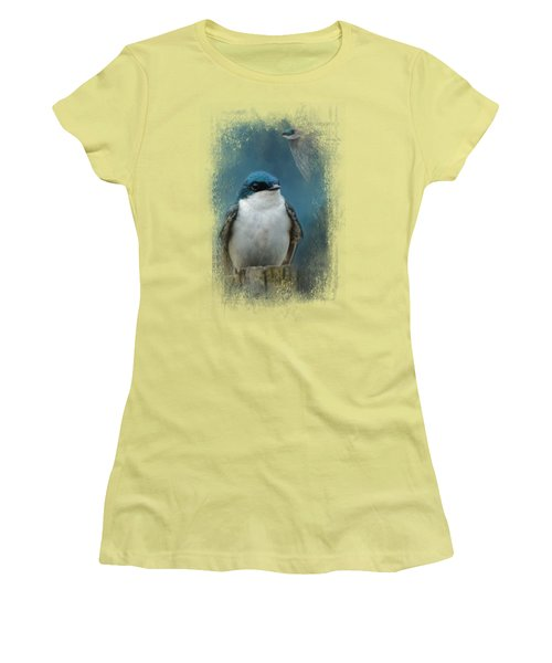 The Beautiful Tree Swallow Women's T-Shirt (Athletic Fit)