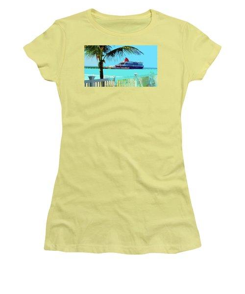 The Bimini Boat Women's T-Shirt (Athletic Fit)