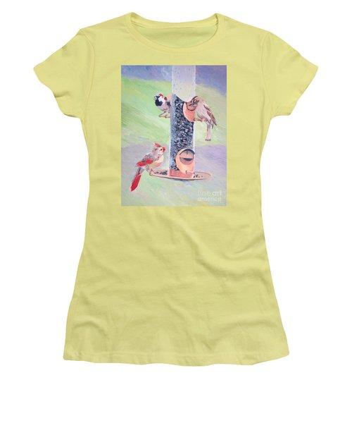 The Bird Feeder Women's T-Shirt (Athletic Fit)