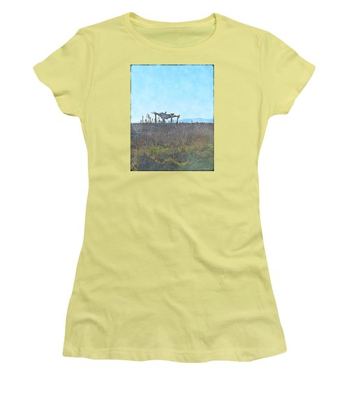 The Blind Women's T-Shirt (Junior Cut) by Tobeimean Peter