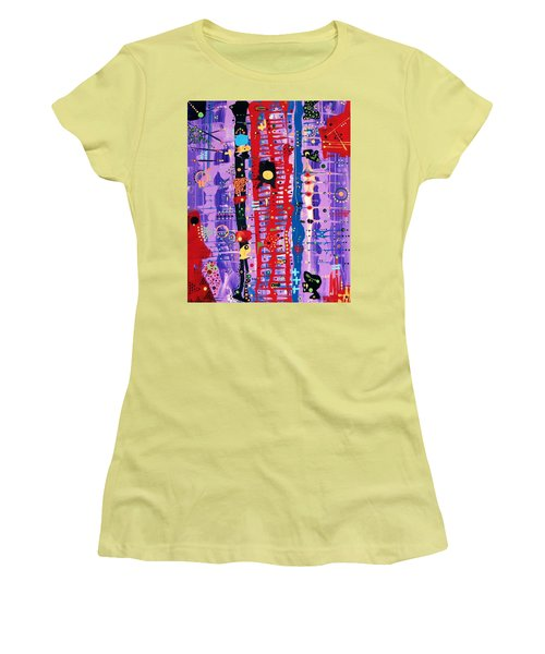 The Bright Red Ladder To Success Women's T-Shirt (Junior Cut)