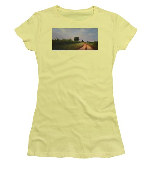 The Brighter Road Ahead Women's T-Shirt (Junior Cut) by Blue Sky