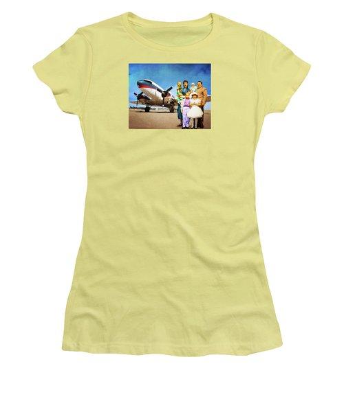 The California Family Women's T-Shirt (Junior Cut) by Timothy Bulone