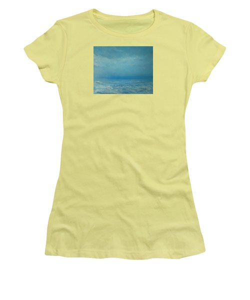 Women's T-Shirt (Junior Cut) featuring the painting The Calm Before The Storm by Jane See