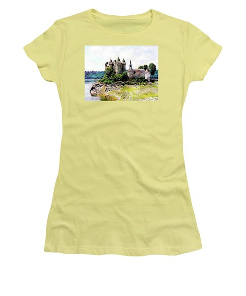 Women's T-Shirt (Athletic Fit) featuring the photograph The Chateau De Val by Joseph Hendrix
