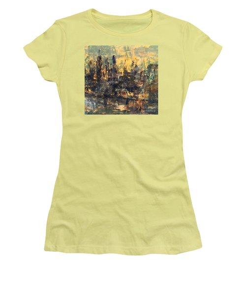 The City Women's T-Shirt (Junior Cut) by Nancy Kane Chapman