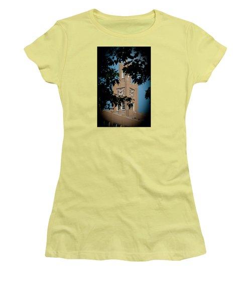 Women's T-Shirt (Junior Cut) featuring the photograph The Clock Tower by Mark Dodd