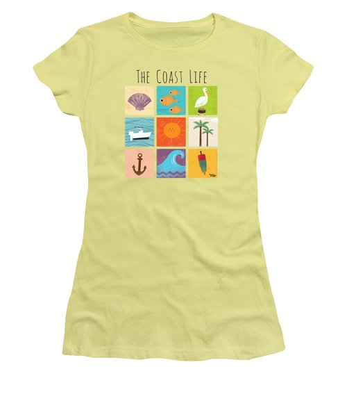 The Coast Life Women's T-Shirt (Athletic Fit)