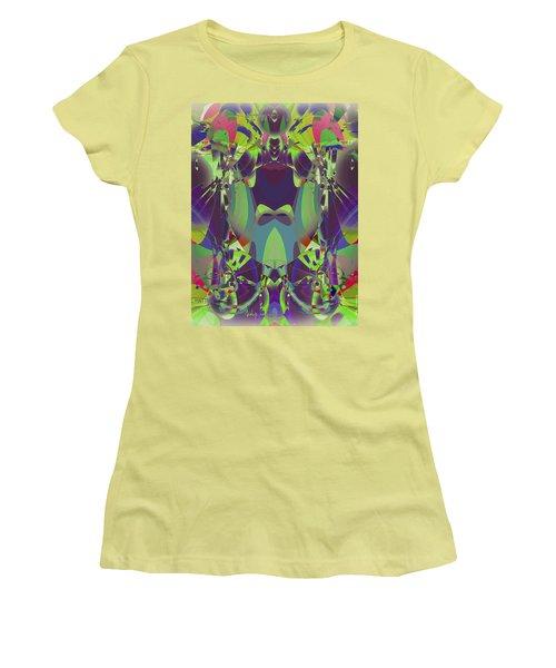 The Color Mask Women's T-Shirt (Junior Cut) by Moustafa Al Hatter