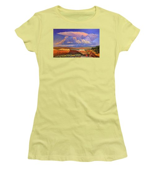 Women's T-Shirt (Junior Cut) featuring the painting The Commute by Art West