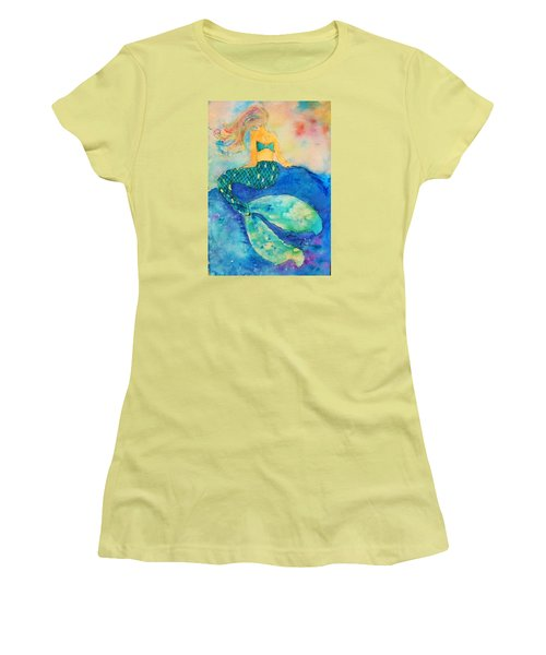 The Contemplation Of A Mermaid Women's T-Shirt (Athletic Fit)