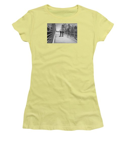 Women's T-Shirt (Junior Cut) featuring the photograph The Conversation by Wade Brooks