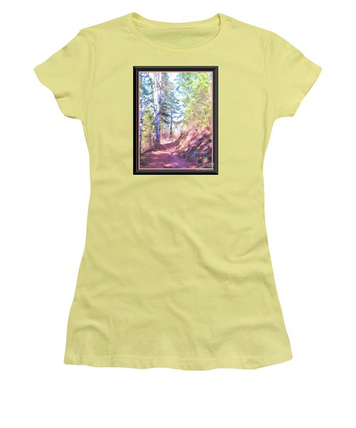 Women's T-Shirt (Junior Cut) featuring the photograph The Copper Path by Shirley Moravec