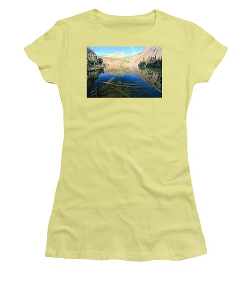 Women's T-Shirt (Athletic Fit) featuring the photograph The Depths Of Blue Lake by Sean Sarsfield