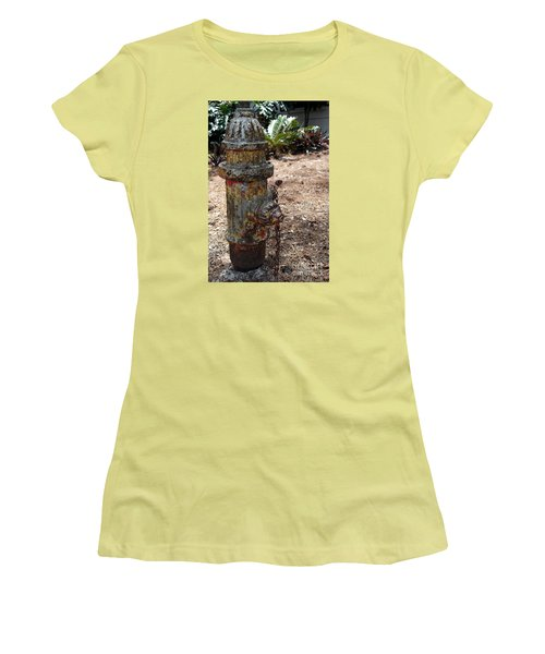 Women's T-Shirt (Junior Cut) featuring the photograph The Doggy Did It by Irma BACKELANT GALLERIES