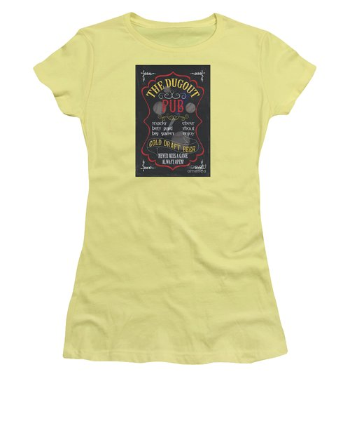 The Dugout Pub Women's T-Shirt (Athletic Fit)