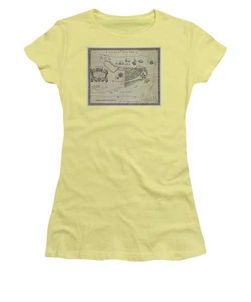 The Dukes Plan A Description Of The Town Of Mannados Or New Amsterdam 1664 Women's T-Shirt (Junior Cut) by Duncan Pearson