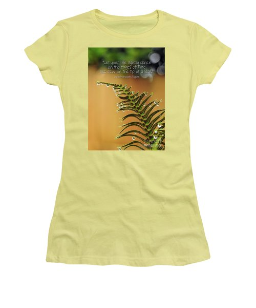 Women's T-Shirt (Athletic Fit) featuring the photograph The Edges Of Time by Peggy Hughes
