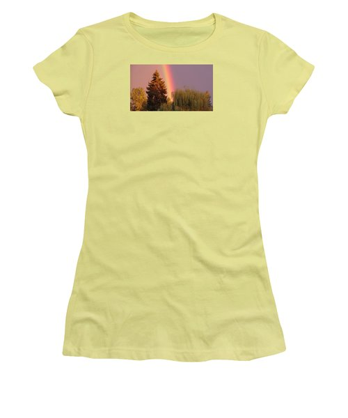 The End Of The Rainbow Women's T-Shirt (Junior Cut) by Karen Molenaar Terrell