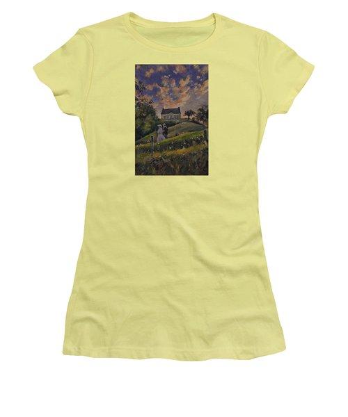 The Evening Stroll Around The Hoeve Zonneberg Women's T-Shirt (Junior Cut)