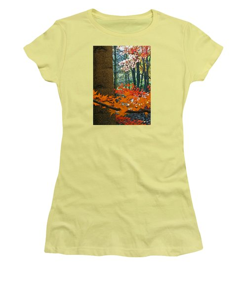 Women's T-Shirt (Junior Cut) featuring the photograph The Ever Elusive Power Lines  But I Got Them by Cliff Spohn