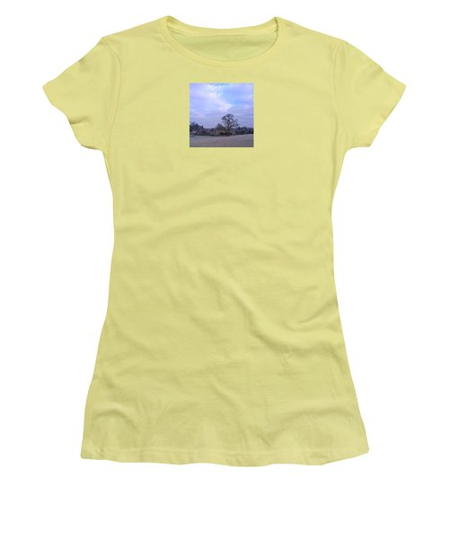 The Farm In Winter Women's T-Shirt (Athletic Fit)