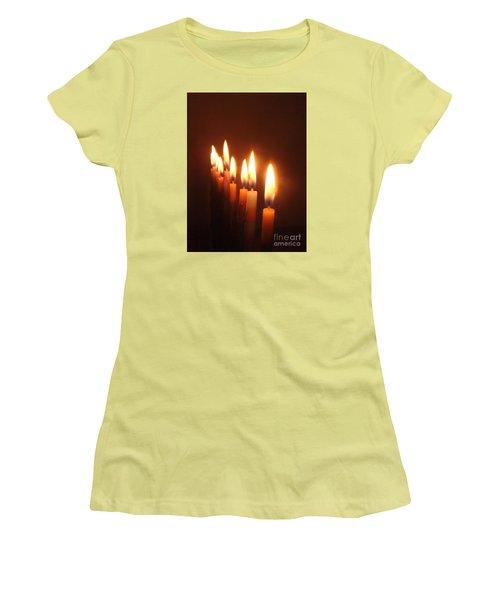 The Festival Of Lights Women's T-Shirt (Junior Cut) by Annemeet Hasidi- van der Leij