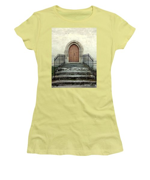 The Fortress Church's Side Door  Women's T-Shirt (Athletic Fit)