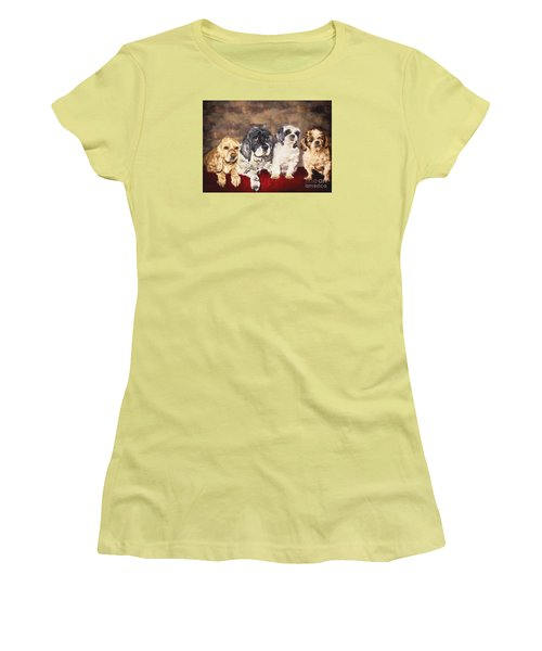 The Four Amigos Women's T-Shirt (Junior Cut) by Janice Rae Pariza