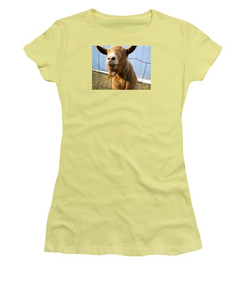 The Friendly Goat  Women's T-Shirt (Athletic Fit)