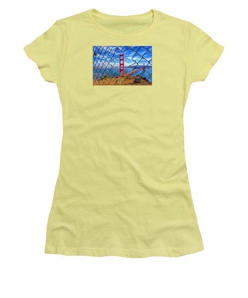 The Golden Gate Bridge  Women's T-Shirt (Junior Cut) by Alpha Wanderlust