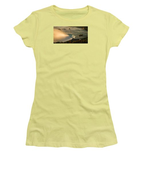 The Golden Mist Of Niagara Women's T-Shirt (Athletic Fit)