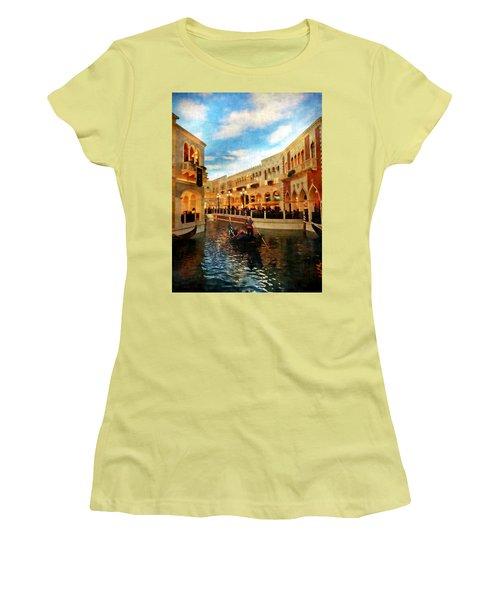The Gondolier Women's T-Shirt (Junior Cut) by Dan Stone