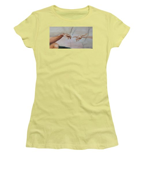 The Hand Of God Women's T-Shirt (Athletic Fit)